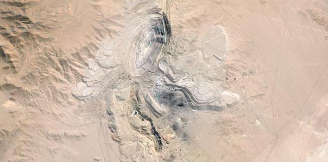 Chuquicamata vista con GoogleMaps