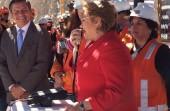 Michelle Bachelet durante el 100 aniversario de Chuquicamata.
