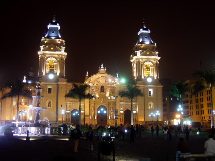 Plaza de Armas de Lima, Perú.