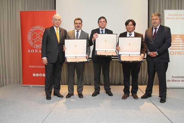 Premiación en el Día del Minero.