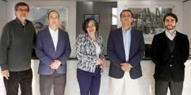 Mario González, Cristián Rickenberg, Gina Román, Iván Rayo (Gerente General) y Felipe Urzúa.