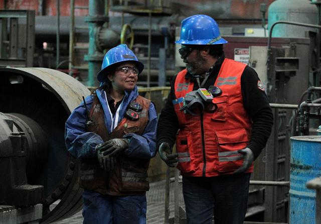 Trabajadores de El Teniente (Foto Codelco)