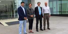 Foto: Diego Cruz de Simma, Monica Smanio y Andrea Schiavon de Berco, junto a Clemens Huhn de Simma.
