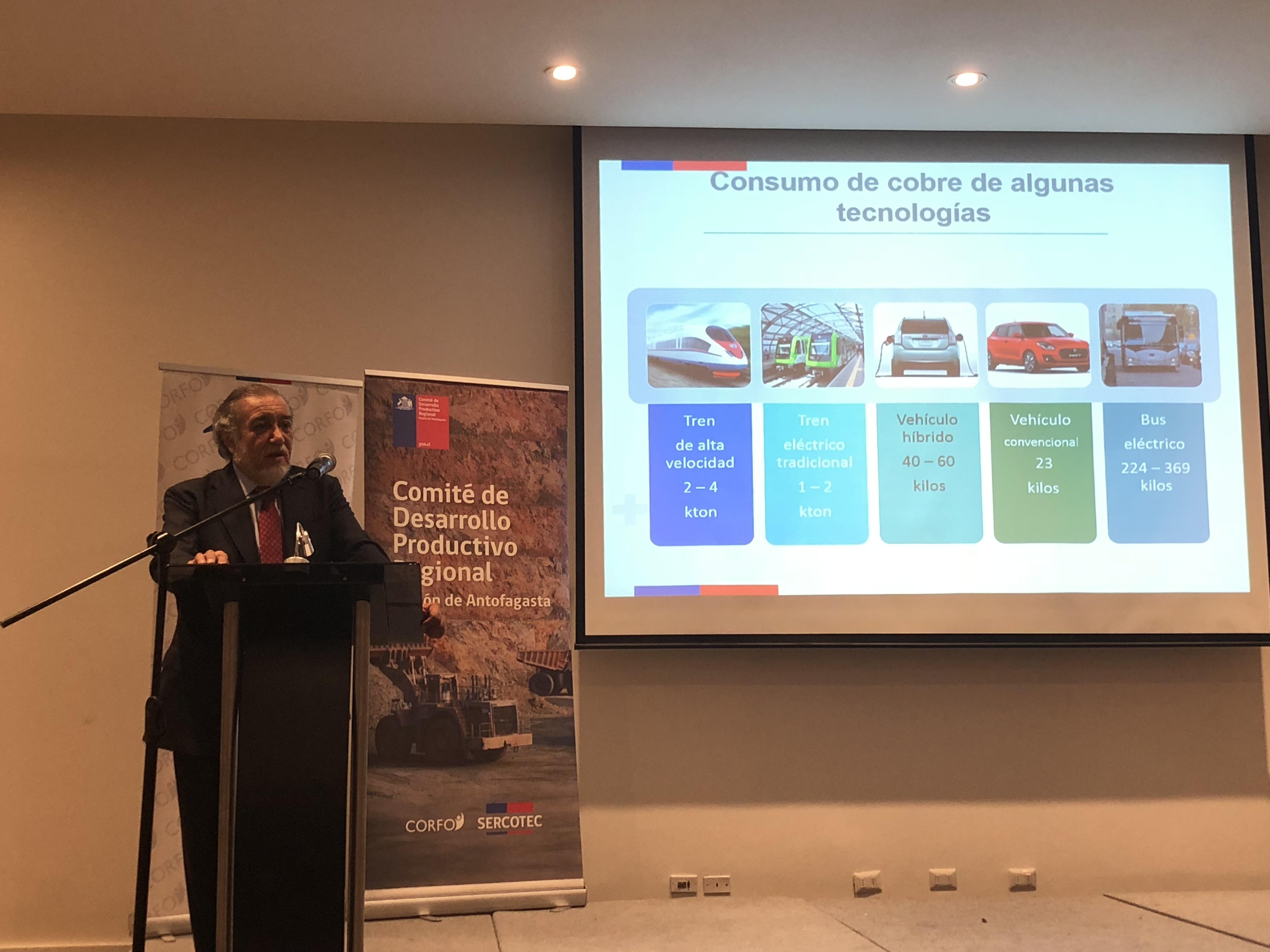 Sergio Hernández, en Foro de Promoción de Inversiones de Antofagasta