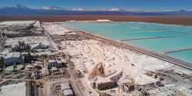 Operación de SQM en el Salar de Atacama.