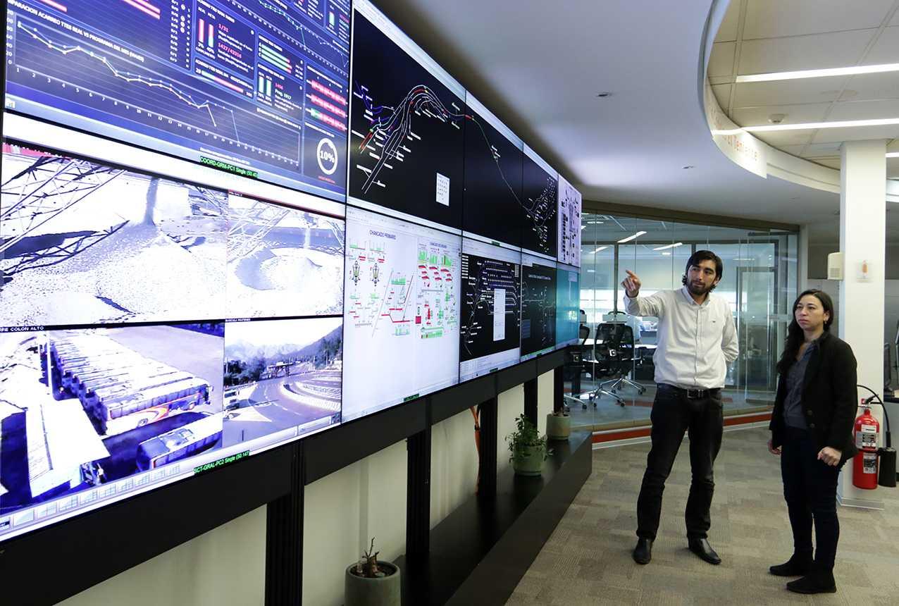 Fotografía: Centro Integrado de Operaciones El Teniente, Codelco.