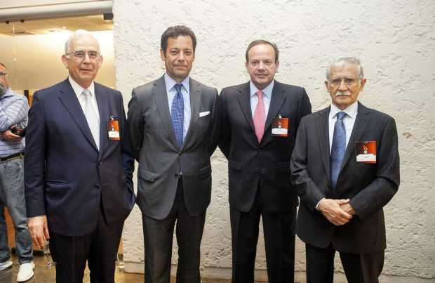 Diego Hernández, Sonami; Joaquín Villarino, Consejo Minero; Jorge Gómez, Collahuasi; Nelson Pizarro, Codelco.