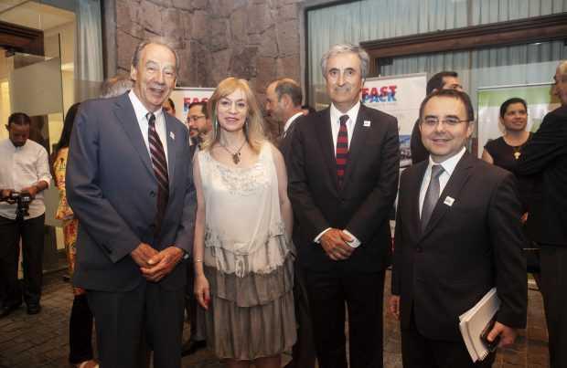 Ricardo Nicolau; Verónica Kramer, ProChile; Jorge Araya, GSI ingeniería; Juan Carlos Guajardo, Plusmining.
