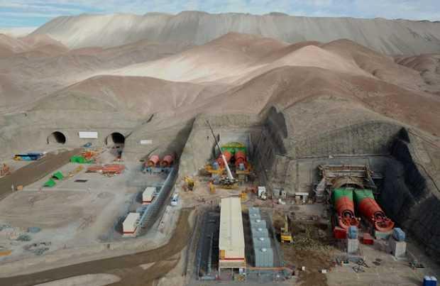 Obras del proyecto Chuqui Subterránea (foto:  Codelo)