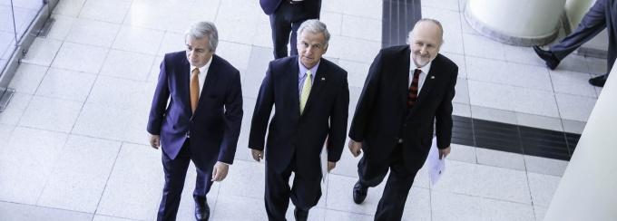 Juan Benavides, Felipe Larraín y Baldo Prokurica.