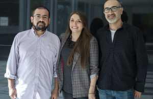 El equipo de Editec Marketing y Diseño: Luis Parraguez, Carola Correa y Alfredo Eloy