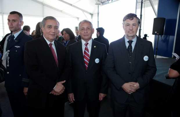 Sergio Hernández, vicepresidente ejecutivo de Cochilco; Patricio Céspedes, vicepresidente de Sonami; Andrés Aguirre, presidente de Aprimin.