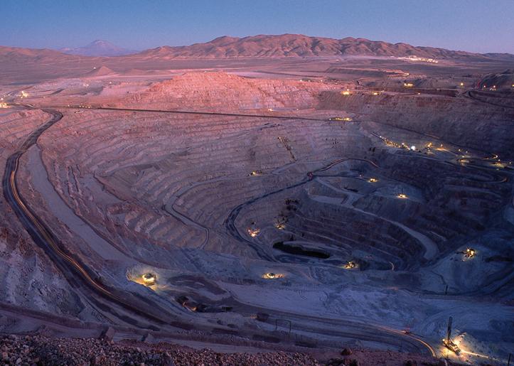 Rajo de Minera Escondida