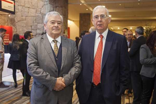 Sergio Jarpa, CEO de Marubeni Copper Holdings y presidente de Voces Mineras A.G.; Diego Hernández, presidente de Sonami.