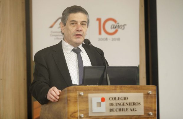 Cristian Hermansen, presidente del Colegio de Ingenieros de Chile.