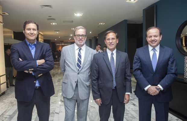 Andrés Souper, gerente general de Glencore Chile; Pablo Mir, abogado de Bofill Mir & Álvarez Jana; Iván Arriagada, presidente ejecutivo de Antofagasta Minerals; Jorge Gómez, presidente ejecutivo de Collahuasi.