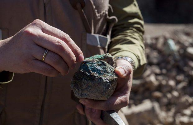 Muestreo de mineralización de cobre.