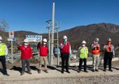 Ministro de Minería visitó Minera Valle Central